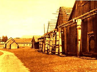 Quamichan Indian Reserve Traditional Longhouses